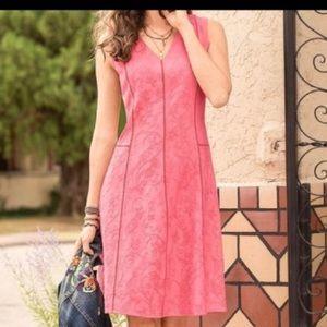 Sundance Matelasse Embroidered Dress - size 2